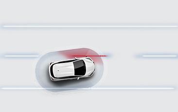 Aviso de mudança de faixa da Nissan