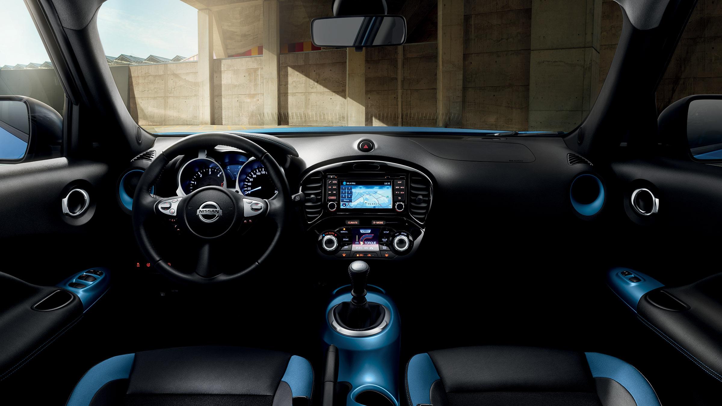 Design interior do Nissan JUKE 2018