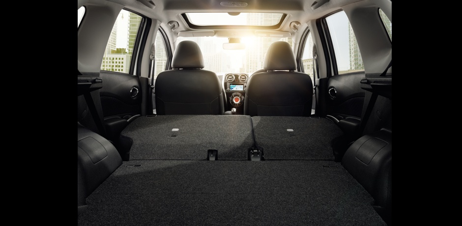 neuer Nissan Note Kofferraum
