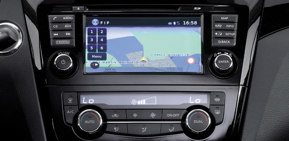 neuer Nissan Qashqai NissanConnect System