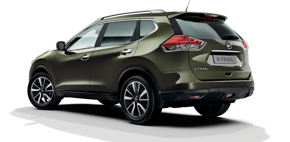neuer Nissan X-Trail Hinteransicht