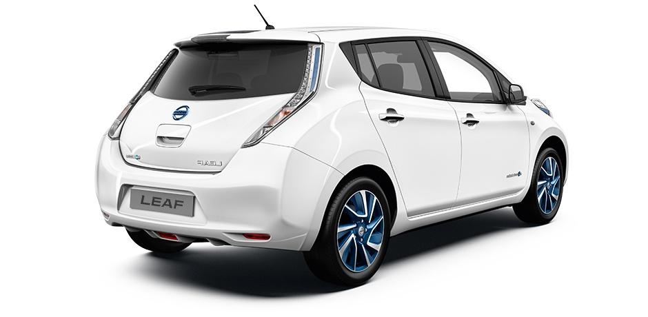 Nissan Leaf vista posteriore