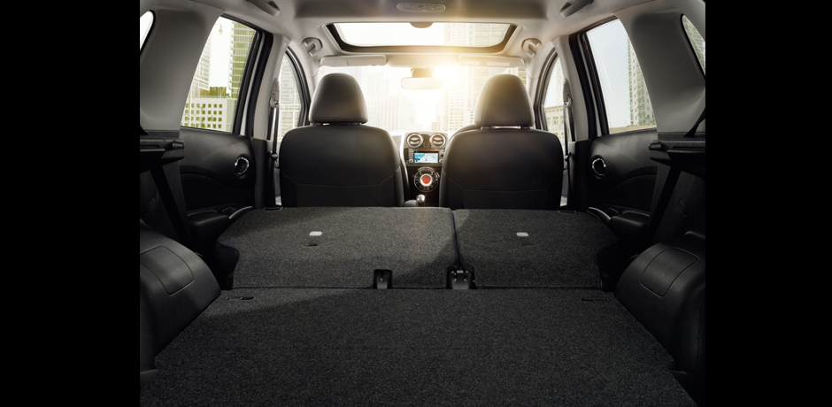 new Nissan Note cargo space