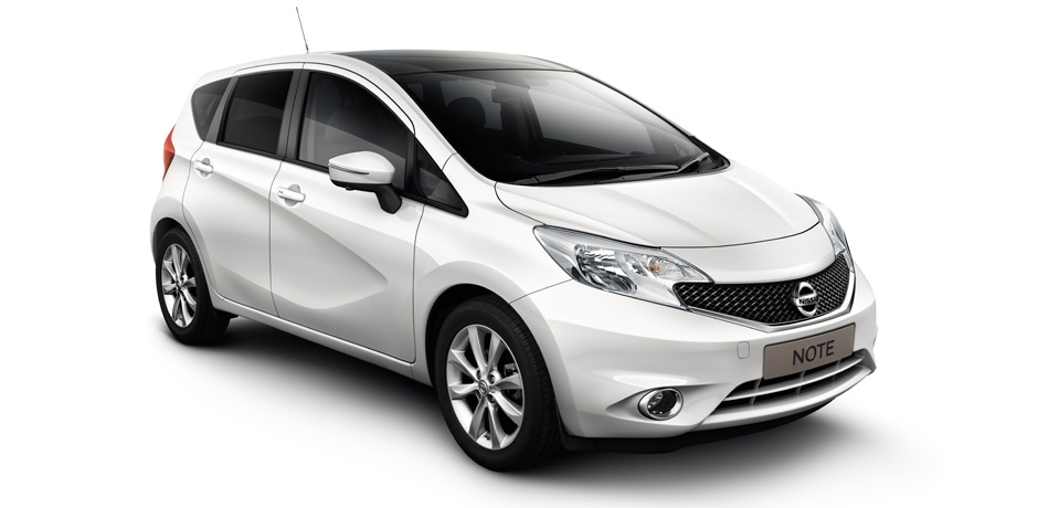 new Nissan Note front view