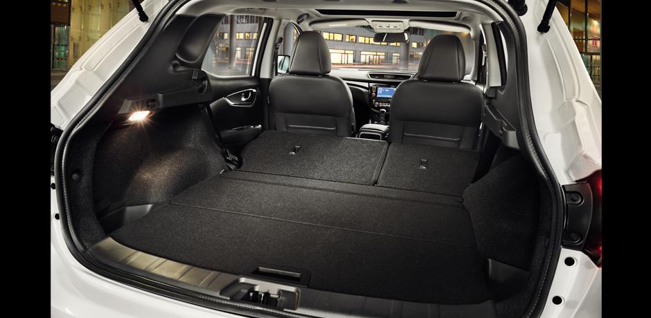 new Nissan Qashqai cargo space