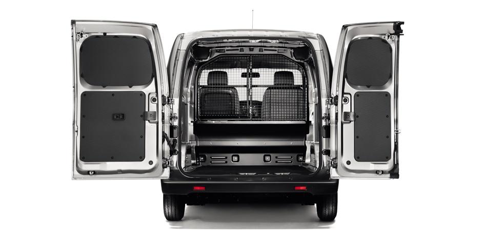 grey Nissan NV200 Van cargo space