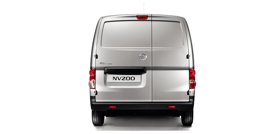 grey Nissan NV200 Van rear view