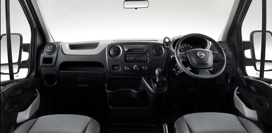 white Nissan NV400 interior