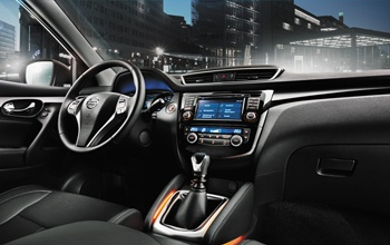 Design interior do Nissan QASHQAI