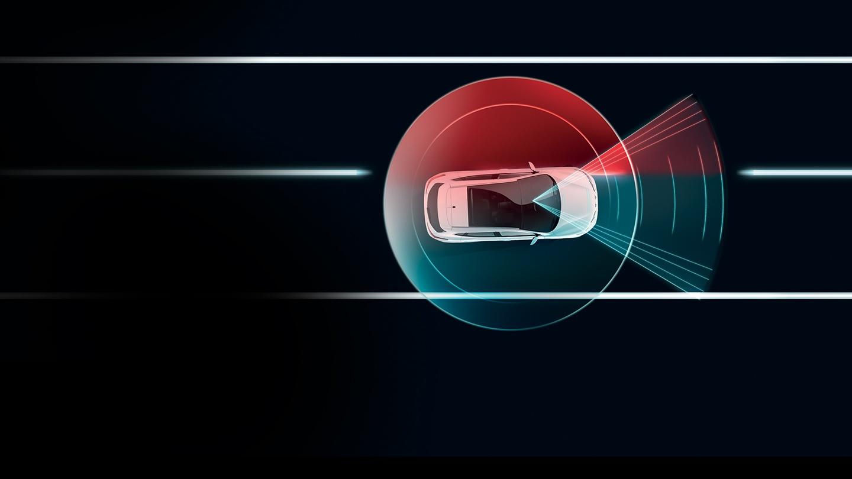 Nissan QASHQAI varování při změně pruhu